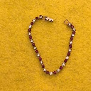 Jewelry - Vintage Silver Ruby and White Topaz Evening